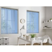 Baby Blue Bermuda 89mm Blackout Vertical Window Blind