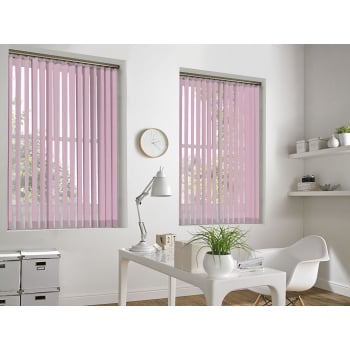 Baby Pink Bermuda 89mm Blackout Vertical Window Blind