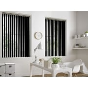 Black Bermuda 89mm Blackout Vertical Window Blind
