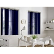 Blue Bermuda 89mm Vertical Window Blind