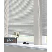 Bright Silver 25mm Perforated Aluminium Venetian Window Blind