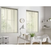 Buttermilk Bermuda 89mm Vertical Window Blind