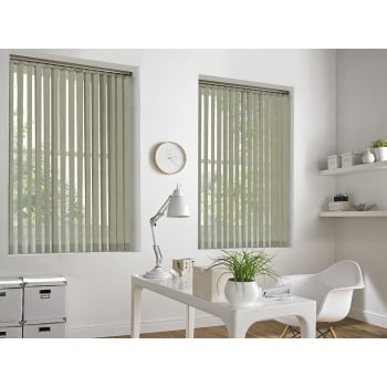 Cracked Ice Beige 89mm Blackout Vertical Window Blind