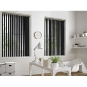 Cracked Ice Black 89mm Blackout Vertical Window Blind