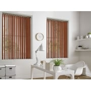 Cracked Ice Burnt Orange 89mm Blackout Vertical Window Blind