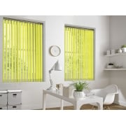 Cracked Ice Citrus Lemon 89mm Blackout Vertical Window Blind