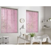 Cracked Ice Pink 89mm Blackout Vertical Window Blind