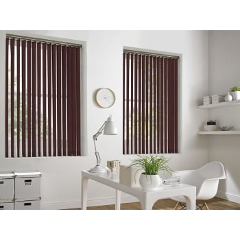Cracked Ice Sapphire Red 89mm Blackout Vertical Window Blind