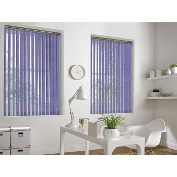 Cracked Ice Violet 89mm Blackout Vertical Window Blind