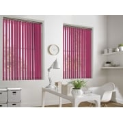 Dark Pink Bermuda 89mm Blackout Vertical Window Blind