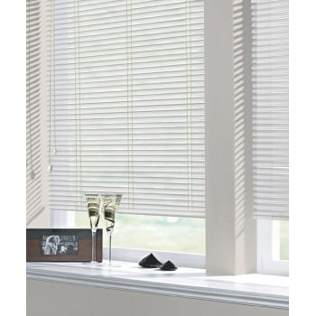 Gloss White 25mm Perforated Aluminium Venetian Window Blind