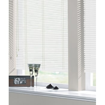 Gloss White 25mm Standard Aluminium Venetian Window Blind