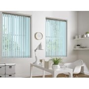 GX Lite Baby Blue Fire Retardant 89mm Blackout Vertical Window Blind
