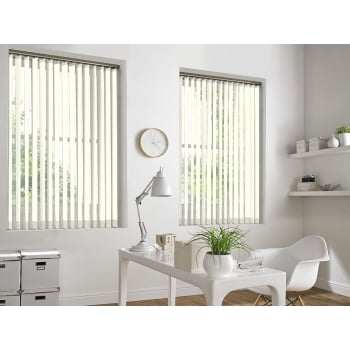GX Lite Cream Fire Retardant 89mm Blackout Vertical Window Blind