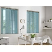 GX Lite Light Blue Fire Retardant 89mm Blackout Vertical Window Blind