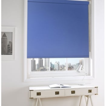 GX Lite Light Blue Fire Retardant Blackout Roller Window Blind