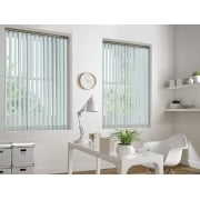 GX Lite Light Grey Fire Retardant 89mm Blackout Vertical Window Blind