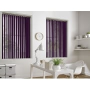 GX Lite Purple Fire Retardant 89mm Blackout Vertical Window Blind