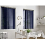 GX Lite Royal Blue Fire Retardant 89mm Blackout Vertical Window Blind