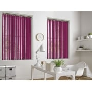 GX Lite Serese Pink Fire Retardant 89mm Blackout Vertical Window Blind