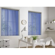 GX Lite Teal Blue Fire Retardant 89mm Blackout Vertical Window Blind