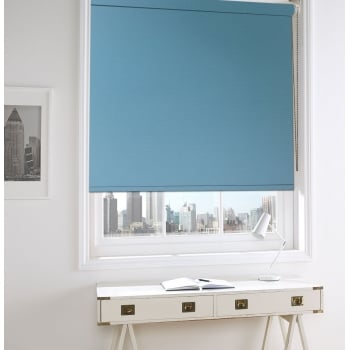 GX Lite Teal Blue Fire Retardant Blackout Roller Window Blind