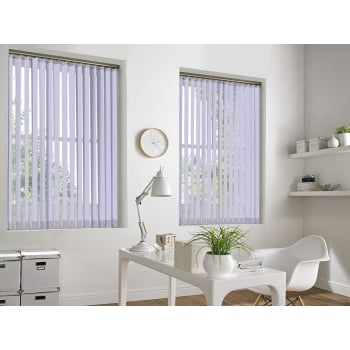 GX Lite Violet Fire Retardant 89mm Blackout Vertical Window Blind