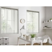 GX Lite White Fire Retardant 89mm Blackout Vertical Window Blind