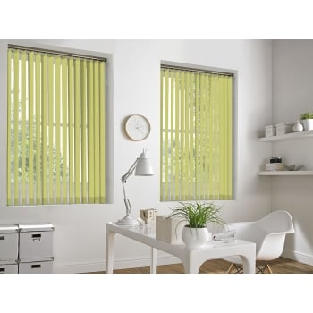 GX Lite Yellow Fire Retardant 89mm Blackout Vertical Window Blind