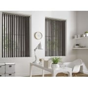 Hessian Chocolate Brown 89mm Vertical Window Blind