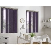 Hessian Purple 89mm Vertical Window Blind