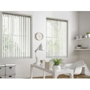 Hessian White 89mm Vertical Window Blind