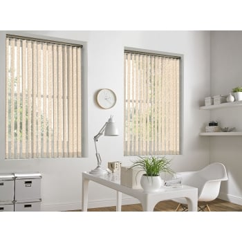Ivy Baby Pink 89mm Vertical Window Blind