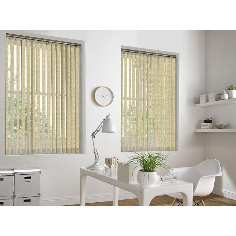 Ivy Light Beige 89mm Vertical Window Blind ...