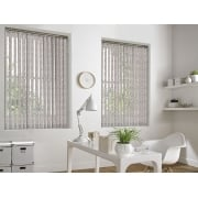 Ivy Slate Grey Vertical Window Blind 89mm