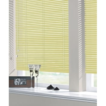 Mustard Yellow 25mm Standard Aluminium Venetian Window Blind