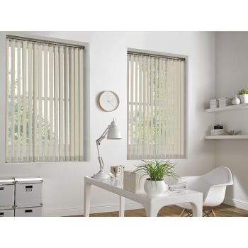 Neon Cream 89mm Blackout Vertical Window Blind