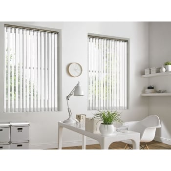 Portland White 89mm Vertical Window Blind