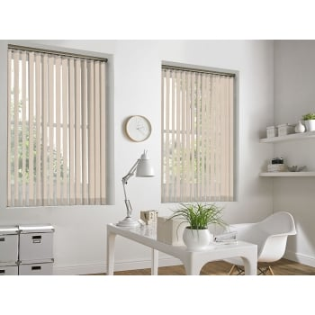 Queens Texture Champagne 89mm Vertical Window Blind