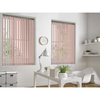 Queens Texture Peach 89mm Vertical Window Blind