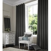 Rustica Gun Metal Grey Curtain