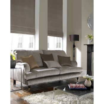 Satin Biscuit Roman Blind
