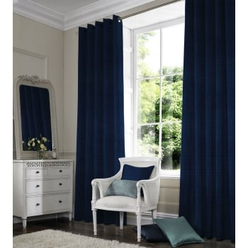Satin Blue Curtain