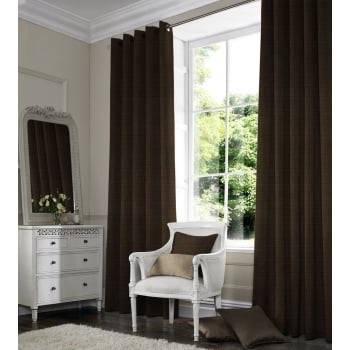 Satin Chocolate Curtain