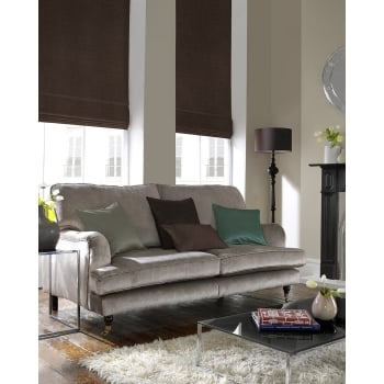 Satin Coffee Roman Blind