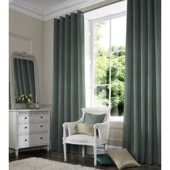 Satin Light Teal Curtain