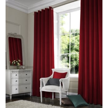 Shangtung Cerise Red Curtain