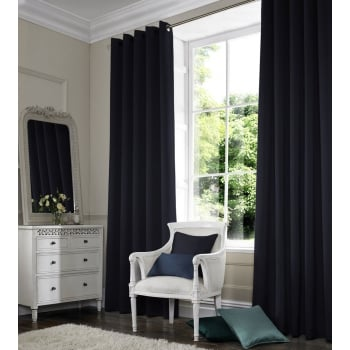 Shangtung Navy Blue Curtain