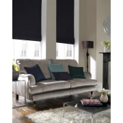 Shangtung Navy Blue Roman Blind