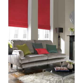 Shangtung Red Roman Blind